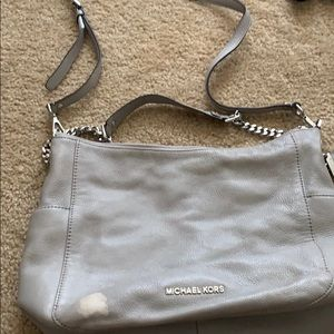 Michael Kors hobo crossbody purse grey leather